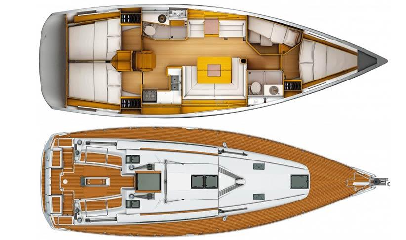 Sailboat-Ibiza-Yacht-Jeanneau-Sun-Odyssey-439-Plans - Lux Charters Ibiza