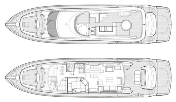 Image of SUNSEEKER SUPERYACHT 87 27m layout