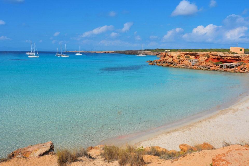 Formentera Beach Guide to Cala Saona beach formentera