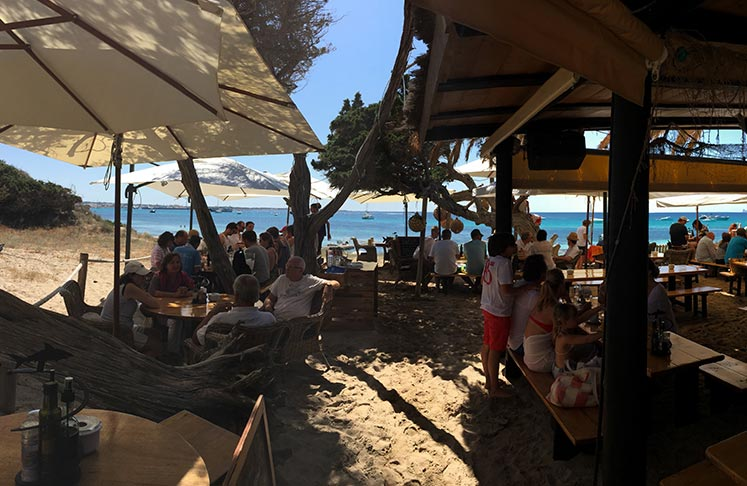 Lunch at Tiburon Restaurant in Playa de ses Illetes
