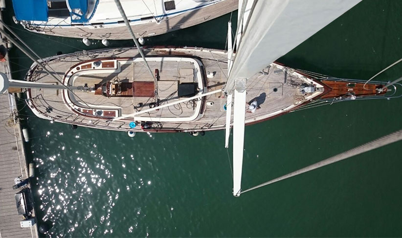 Image of GEISHA KETCH 18 sailboat arial view