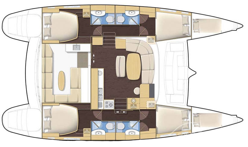 Image of LAGOON 440 A CATAMARAN yacht layout