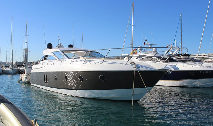 Pershing 90 superyacht on charter in Ibiza, by Lux Charters Ibiza