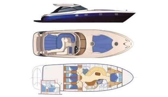 Image of BAIA 54 MOTORBOAT layout