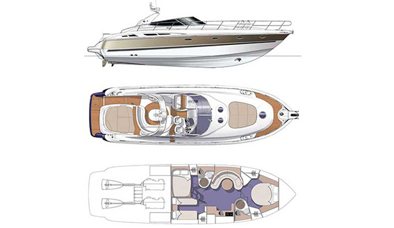 Image of CRANCHI 50 MOTORBOAT layout