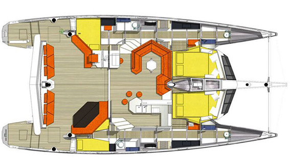 Image of DIAMANTE 555 CATAMARAN sailing yacht layout