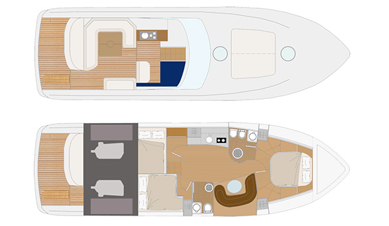 Image of GIORGI 46 OPEN MOTORBOAT sailing yacht layout