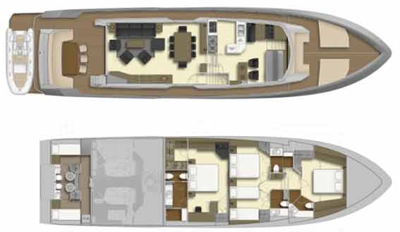 Image of Jeanneau 57 sailing yacht layout