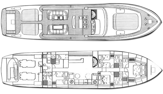 Image of LEOPARD 27 SUPERYACHT plan and layout