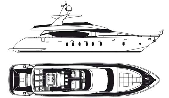 Image of MAIORA 24s SUPERYACHT plans and layout