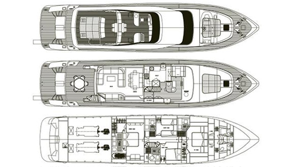 Image of MAIORA 28 SUPERYACHT layout