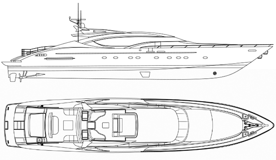 Image of PALMER JOHNSON 120 SUPERYACHT layout
