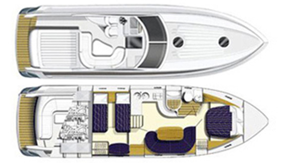 Image of PRINCESS V42 MOTORBOAT layout