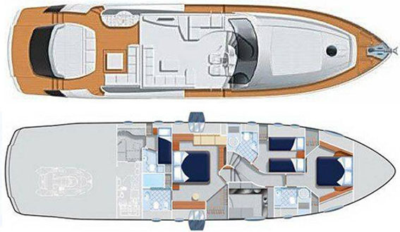 Image of PERSHING 72 SUPERYACHT plans and layout