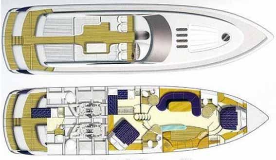 Image of PRINCESS V65 MOTORYACHT layout