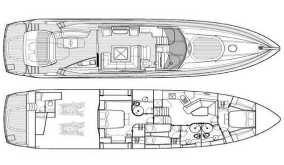 Image of J SUNSEEKER PREDATOR 72 superyacht layout