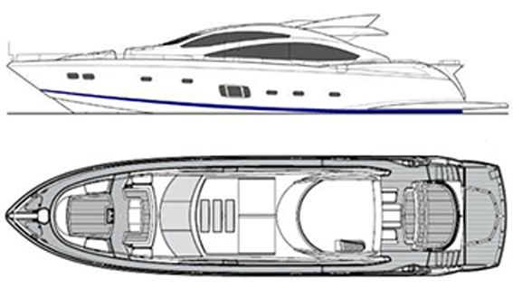 Image of SUNSEEKER PREDATOR 84 plans and layout
