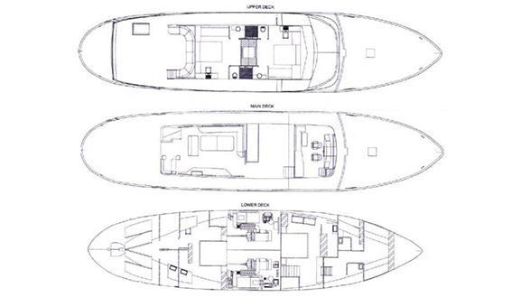 Image of NAVETTA 31 SEMAYA SUPERYACHT plans and layout