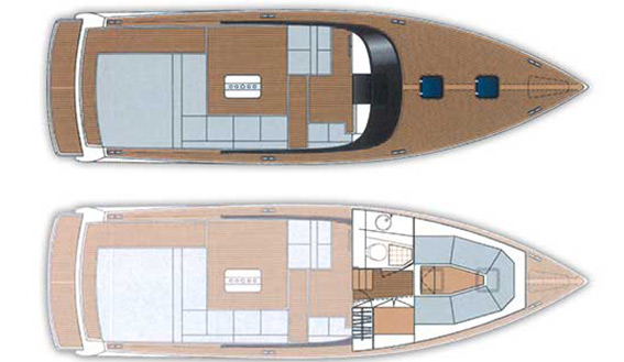 Image of VAN DUTCH 40 MOTORBOAT plan and layout