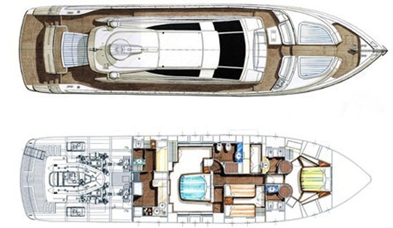 Image of Dalla Pieta 72 sailing yacht layout
