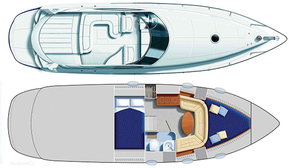 Image of PERSHING 37 MOTORBOAT layout