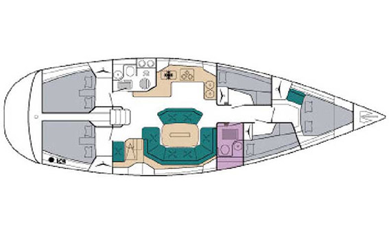 Image of BAVARIA 47 EXCLUSIVE sailing yacht layout