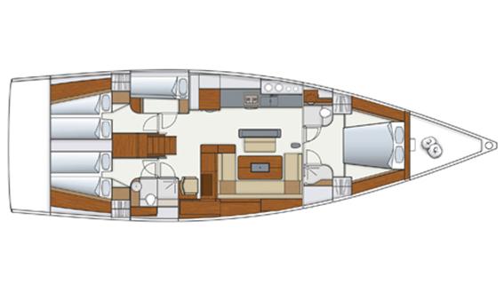 Image of HANSE 575 SAILING BOAT layout