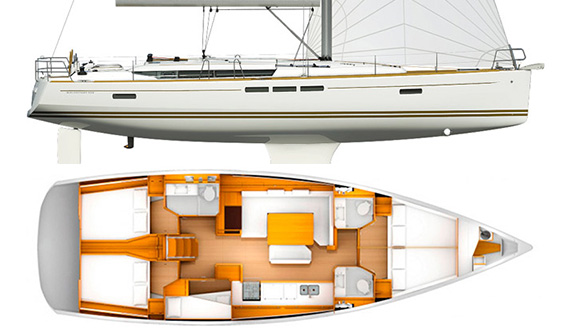 Image of JEANNEAU 509m sailing yacht layout