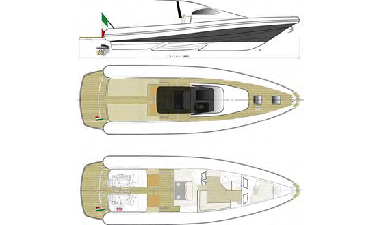 Image of MAGAZZU 13 MOTORBOAT layout