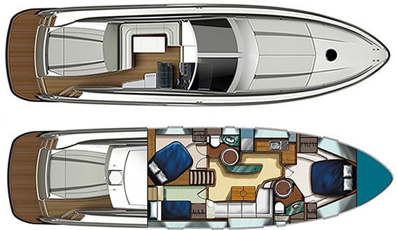 Image of NUMARINE 55 MOTORBOAT layout
