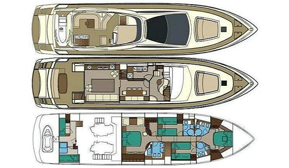 Image of RIVA VENERE 75 SUPERYACHT layout
