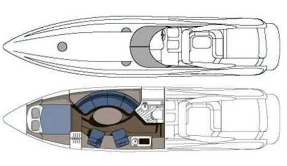 Image of SUNSEEKER SUPERHAWK 48 MOTORBOAT layout