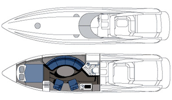 Image of SUNSEEKER SUPERHAWK 50 motorboat layout