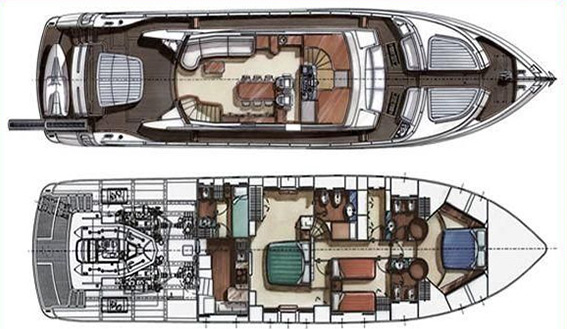 Image of Dalla Pieta 72 i Superyacht layout