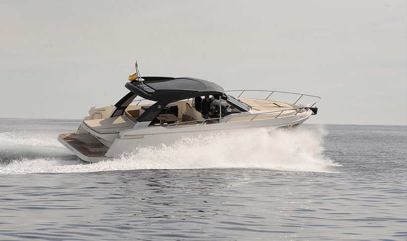 Day Charter the Absolute 40 Sport Motorboat by Lux Charters Ibiza