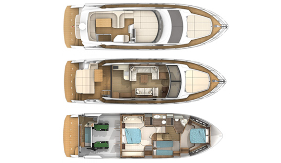 Image of Absolute Fly motoryacht layout plan