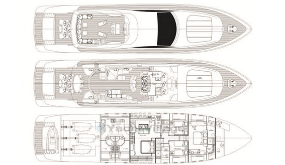 Leopard 32 super yacht layout plan