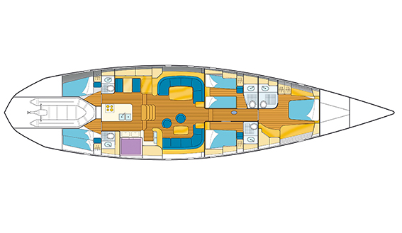 Image of Trehard De Schepper 25m superyacht plan and technical drawing